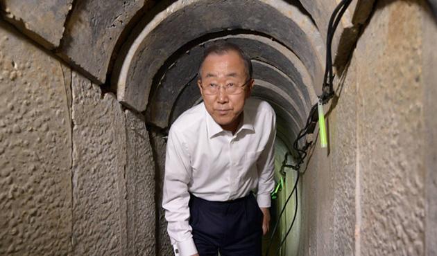 Ban, Hamas tünellerini inceledi