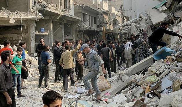 Esad ordusu varil bombasıyla saldırdı