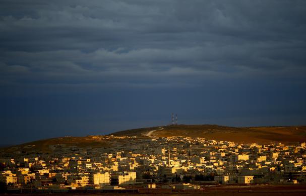 Kobani'deki çatışmalar sınırdan böyle görünüyor | FOTO