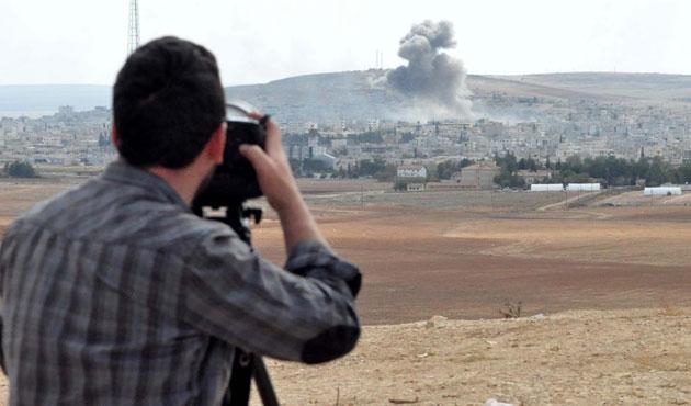 Kobani'de sınıra yakın bölgede şiddetli çatışmalar