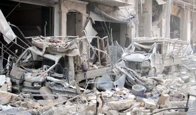 Hama'daki varil bombalı saldırılarda çocuklar öldü