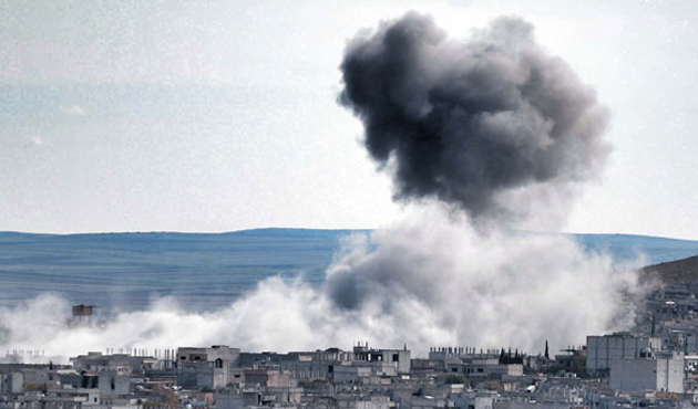 Kobani'den seken mermiler Suruç'a düştü