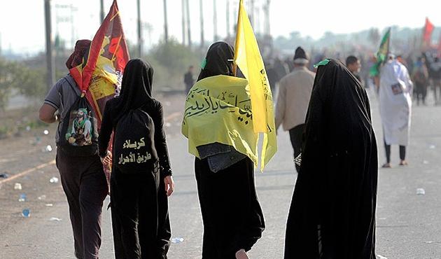 Kerbela'da 'Şirazi' protestosu
