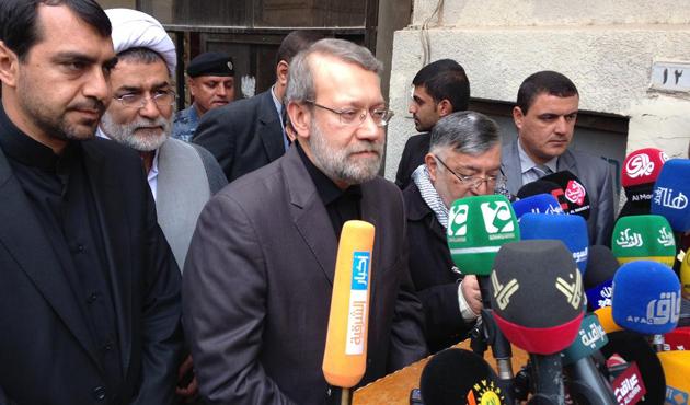 İran Meclis Başkanı Laricani, Barzani ile görüştü