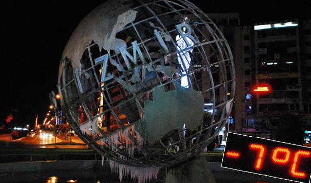 İzmir'de soğuk rekoru