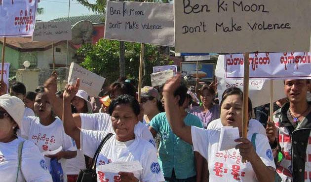Myanmarlı Budist fanatiklerden yüzsüz gösteri