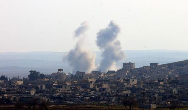 Kobani'nin batısı ile güneyi hala IŞİD'in elinde