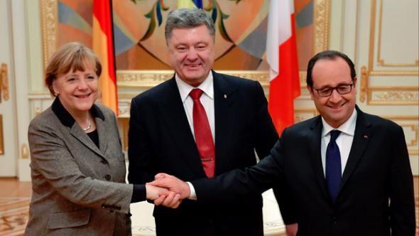 Merkel ve Hollande'dan Ukrayna'ya ziyaret