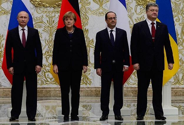 Liderler Ukrayna için Minsk'te buluştu