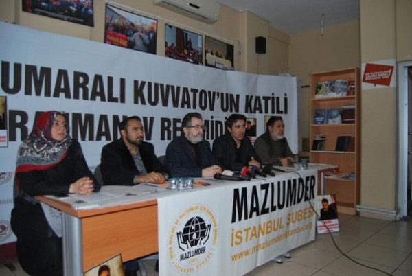 STK'lar, suikastla öldürülen Kuvatov için bir araya geldi