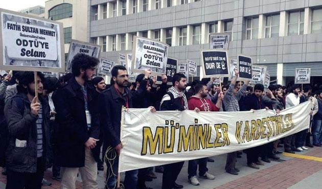 ODTÜ mescidindeki saldırı protesto edildi