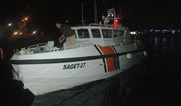 Lastik bottaki 33 kaçak kurtarıldı