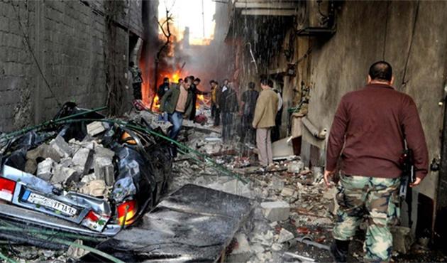 Yermuk Kampına varil bombalı saldırı