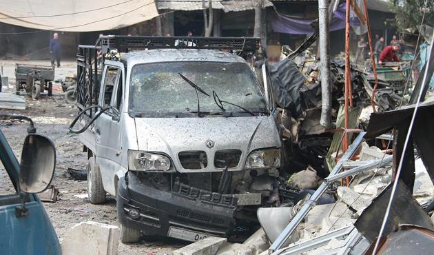 Suriye'de pazaryerine vakum bombalı saldırı: 25 ölü
