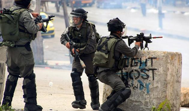 Filistinli tutuklulara destek gösterisine müdahale