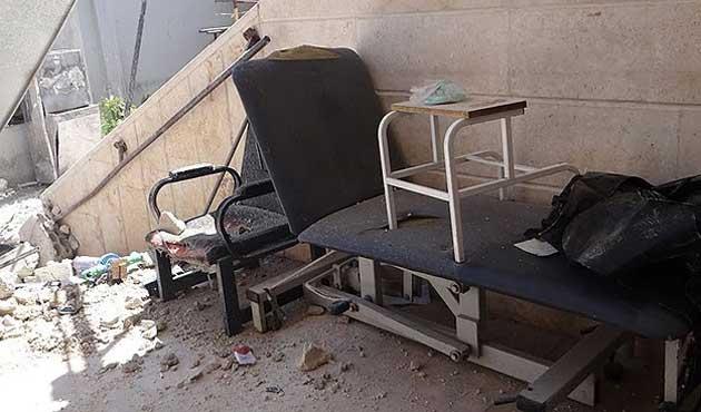 Suriye ordusu hastane bombaladı