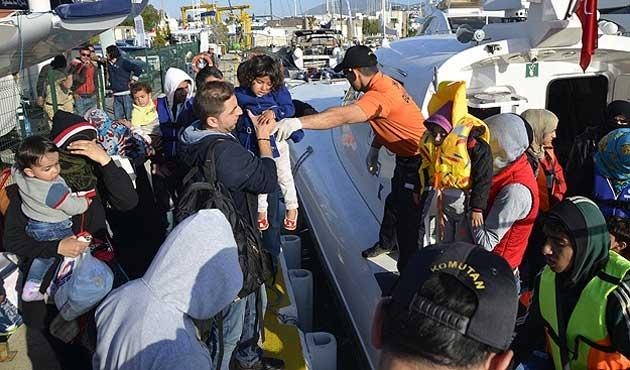 Bodrum'da 60 göçmen yakalandı