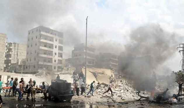 Muhaliflere varil bombalı saldırı