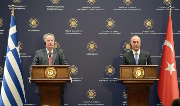 Çavuşoğlu ile Kotzias Ege ve Kıbrıs'ı görüştü