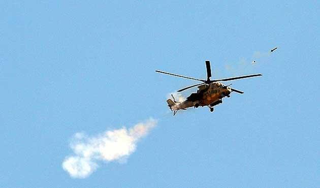 Sınırı ihlal eden Suriye helikopteri düşürüldü