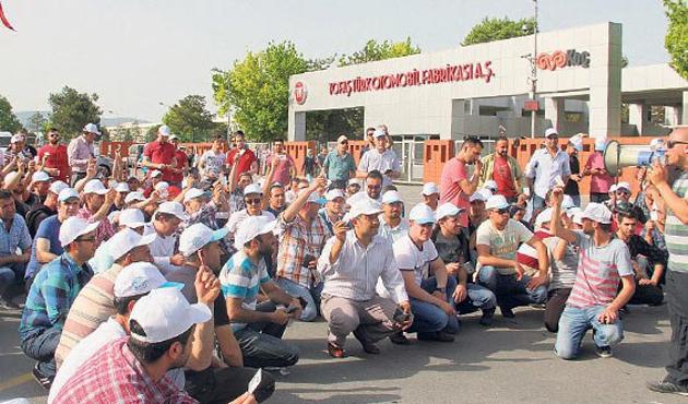 Bursa'da bazı işçiler eylemi bıraktı