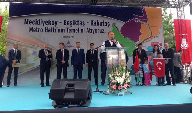 Mecidiyeköy-Kabataş Metrosu'nun temeli atıldı
