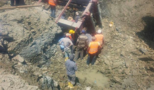 Edirne'de üç işçi göçük altında