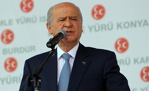 Bahçeli'den Erdoğan'a ret