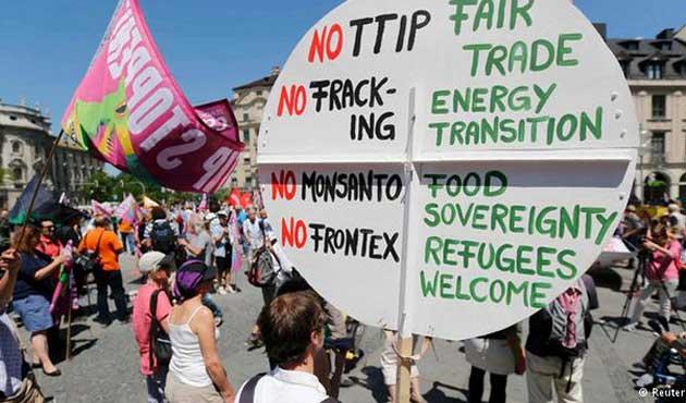 Almanya'da G7 protestoları yapıldı