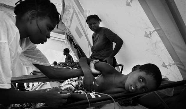 Haiti'deki kolera salgınına karşı kampanya