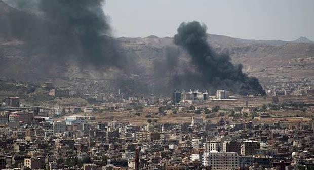 Yemen'de Husi bölgelerine hava saldırısı