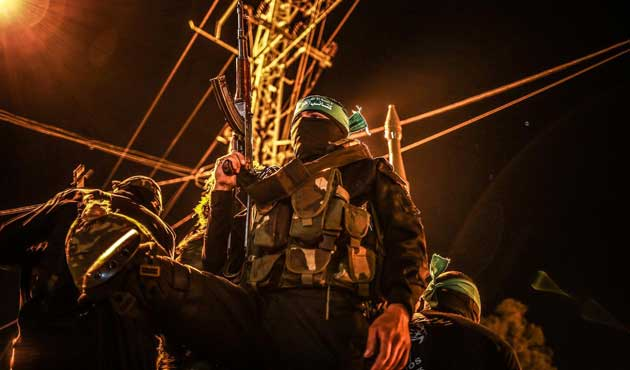 Kassam Tugayları'ndan Gazze'de 'savunma' tatbikatı