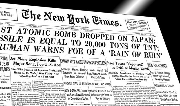 New York Times atom bombasını böyle görmüştü