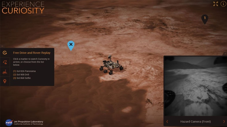Mars yüzeyinde 'sanal seyahat' mümkün