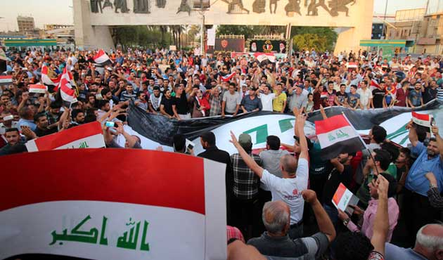 Irak'ta reform protestosu