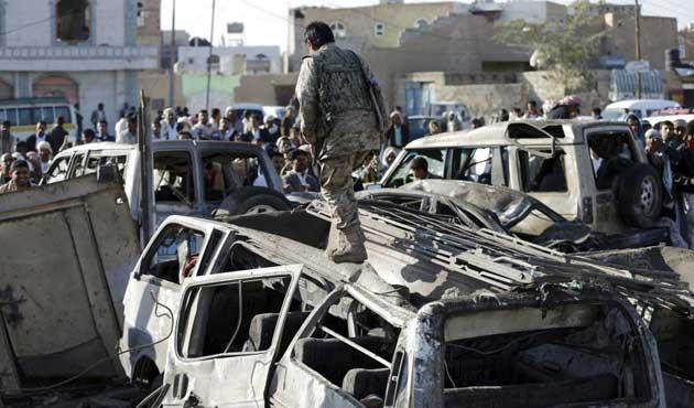 Yemen'de koalisyon uçakları yanlış tarafı vurdu