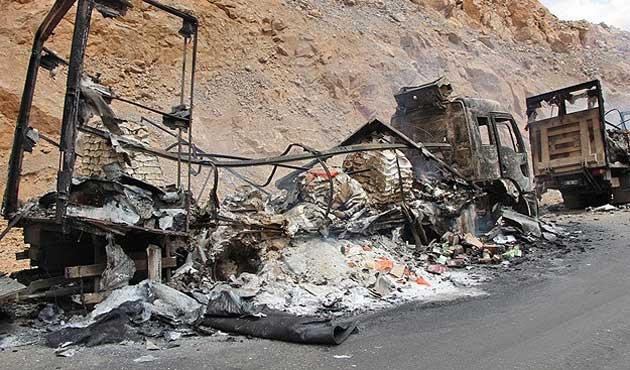 PKK Bingöl'de yol kesip araç yaktı