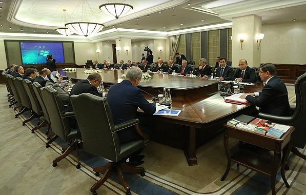 Geçici hükümetin ilk toplantısı yapılıyor