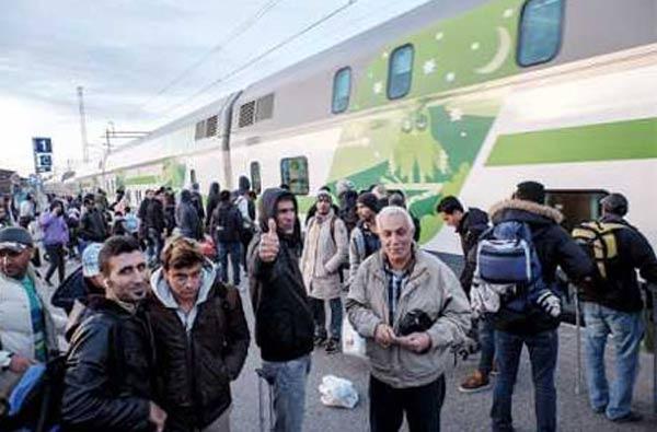 Sığınmacılardan bazıları İskandinav'a ulaştı