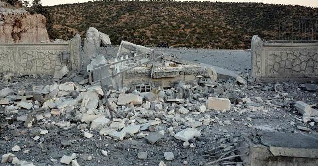 PKK mezarlığındaki yapılar imha edildi