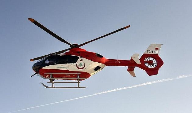 Halep'te yaralılar için helikopter gönderildi