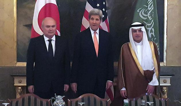 Bakan Sinirlioğlu, Kerry ve Cübeyr ile görüştü