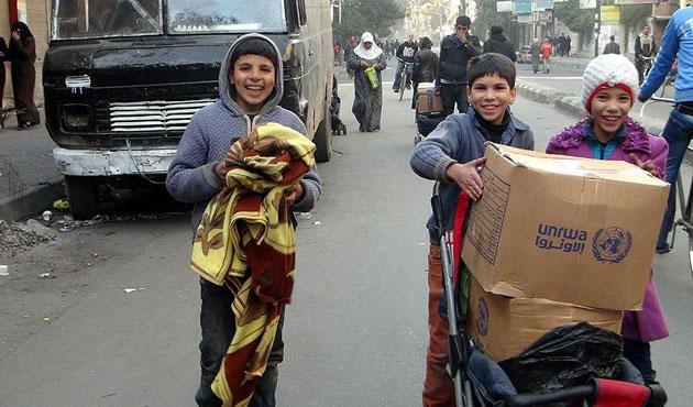 BM yardımları Muaddamiye'ye ulaştı