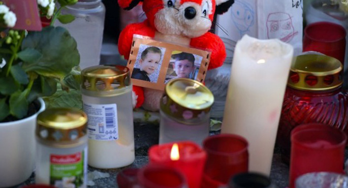 Almanya'da öldürülen mülteci çocuğa anma töreni
