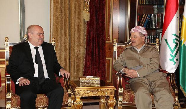 Sinirlioğlu, Mesud Barzani ile görüştü