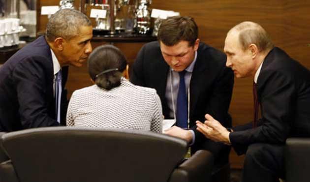 Obama ve Putin başbaşa görüştü