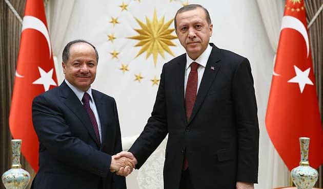 Erdoğan, Barzani'yi kabul etti