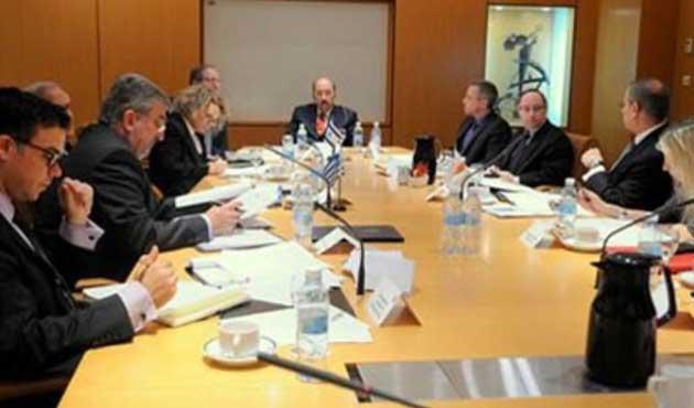 İsrailli, Yunan ve Rum diplomatlar birarada