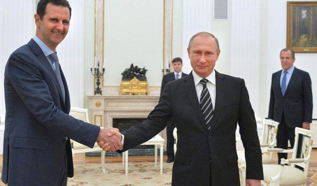 Rusların bombardımanlı yardımı Esad'ı coşturdu!