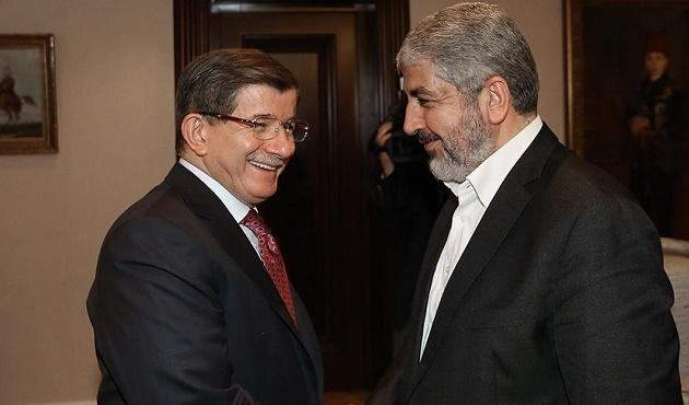 Başbakan Davutoğlu Halid Meşal'i kabul etti